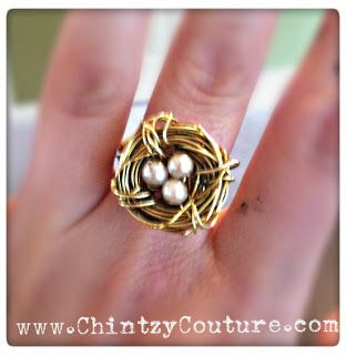 Chintzy Couture: Birds Nest Ring Tutorial