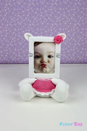 CROCHET PATTERN Photo Frame KITTY_Crochet tutorial PDF file