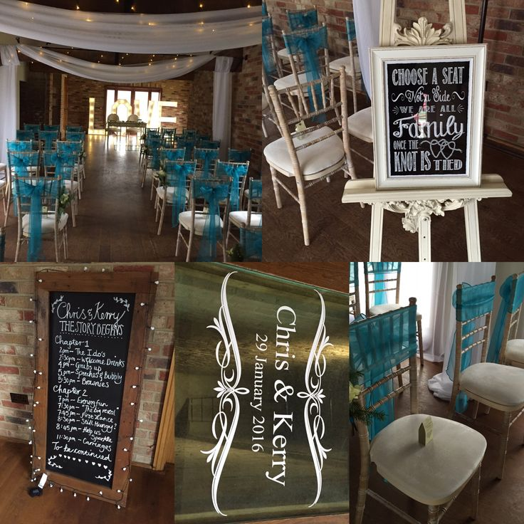 Stunning ceremony decor created for a couple at Long Furlong Barn by the team.