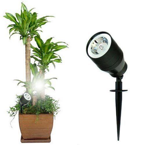 Bakaji Faretto Luce Led per Piante Fiori Punto Luce SPOTLIGHT a picchetto da Impiantare con Auto Sensore Crepuscolare On Off 19 x 5 cm Giardino