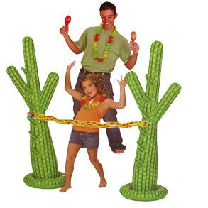 Inflatable Cactus Limbo Game