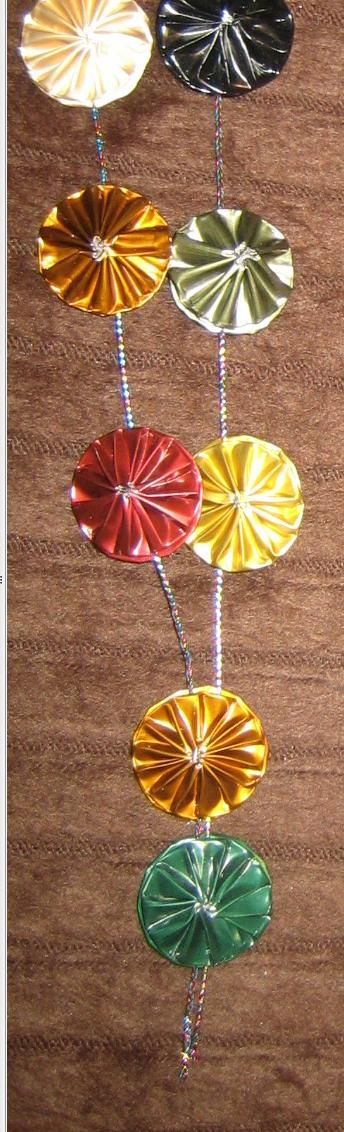 Very cool - Necklace made with variety of Nespresso capsules (cl). Source: Manualidadesnespresso