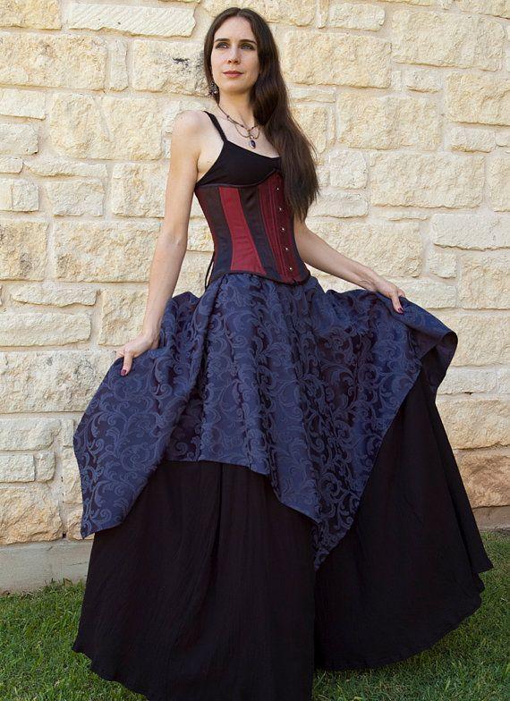 Sapphire Pixie Skirt Renaissance Costume by CrystalKittyCat, $47.00