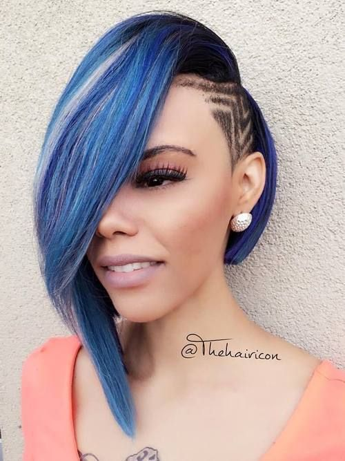 Bob Hairstyles For Black Women 2long bob with deep side part 60 Showiest Bob Haircuts For Black Women