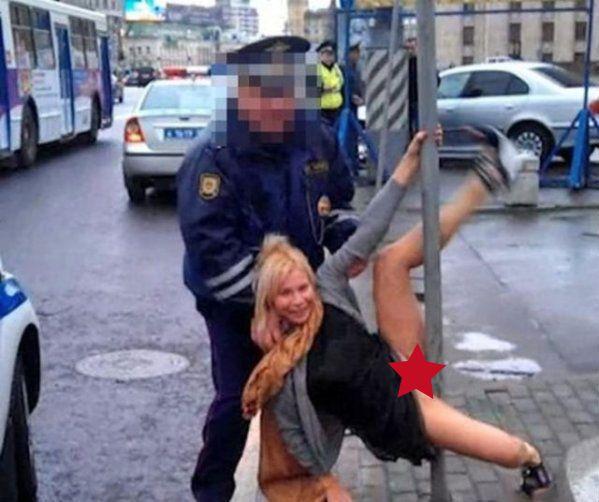 Crazy drunk chick