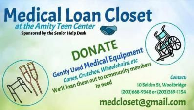 Amity Teen Center Medical Loan Closet serving the Greater New Haven County area of Connecticut is looking for new and used medical equipment and supplies for our community members in need!  Looking to Donate or Borrow New and Used Medical Equipment in the Greater New Haven County Area of Connecticut? The Amity Teen Center Medical Loan Closet can Help!