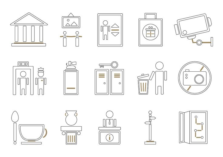 Museum pictogram on Behance
