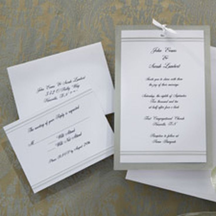 25 invitations, 25 backer cards, 25 foam adhesive squares, 26 reply cards, 25 strips of satin ribbon, 25 silver lined envelopes, 25 reply card envelopes, 3 invitation test sheets, 3 reply card test sheets.