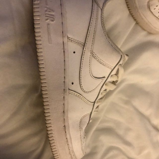 White Nike Air Force 1 Low Size 4 UK