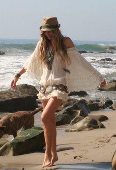 Boho style at the beach!