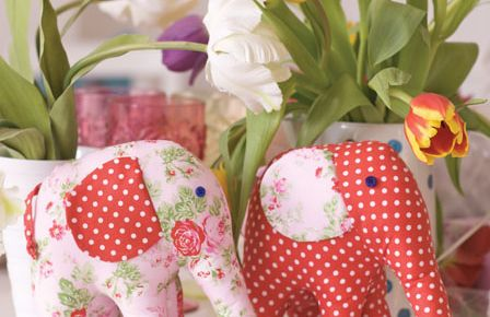 Pretty Elephant Toy Sewing Project | Click To Download