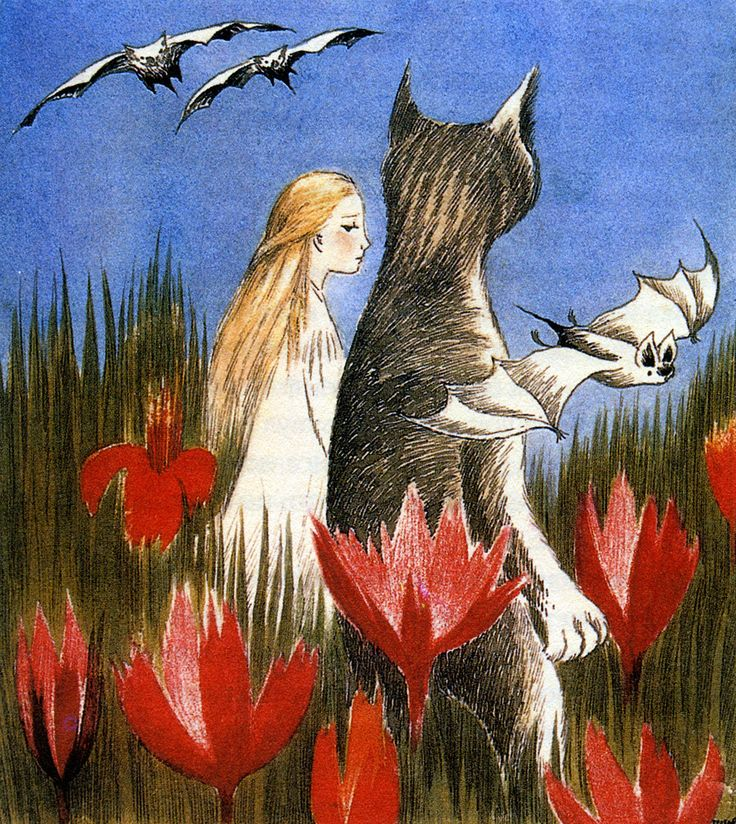 Tove Jansson: Alice in Wonderland (love the bat)
