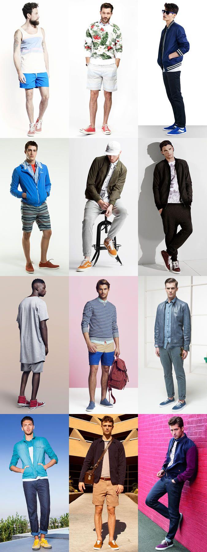 Men's 2014 Spring/Summer Fashion Trend: Pop-Colour Trainers Footwear Lookbook Inspiration