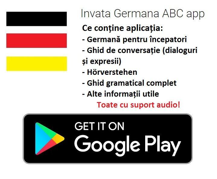 Aplicatie Android de invatare a limbii germane. Invata germana aplicatie.