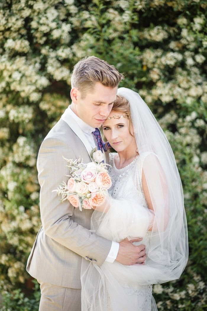 Romantic Peach & Gold Wedding.  Image by Lola Rose Photography