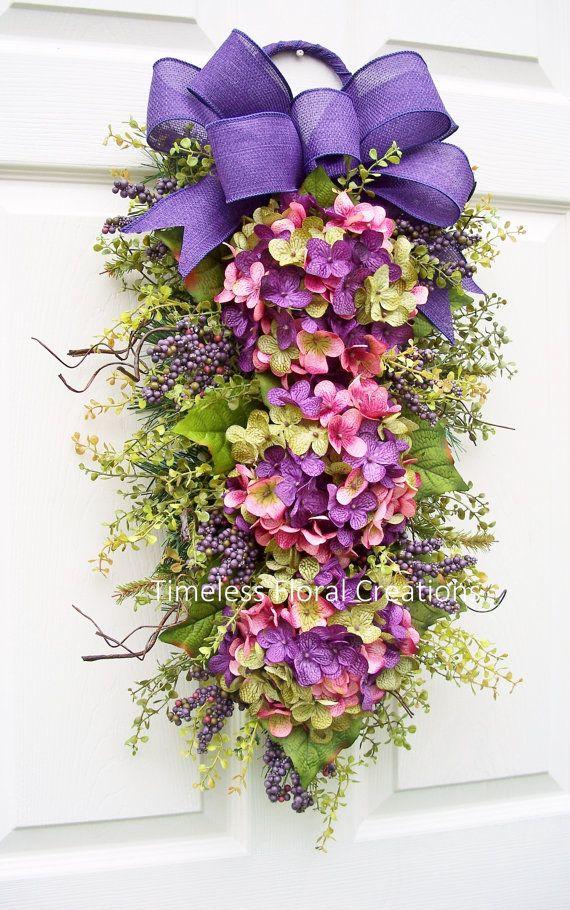 Hydrangea Wreath Swag Spring Has Sprung Spring