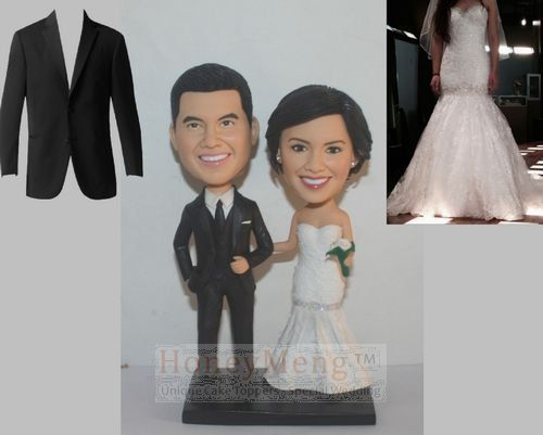 custom wedding cake toppers head to toe personalized made from photo fast shipping quick delivery wedding