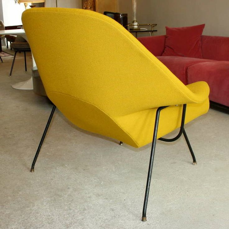 very early saarinen womb chair u0026 ottoman knoll