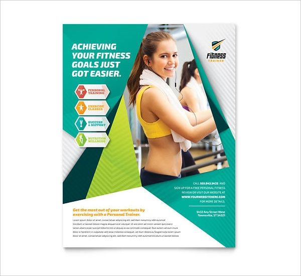 Personal Training Flyers Templates Free Fitness Flyer Diy Graphic Design Flyer Template
