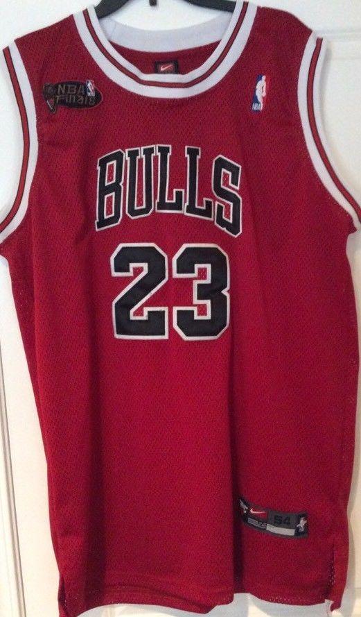 newest b3ea4 768a3 Vtg 90's Sz 54 Chicago Bulls Jordan 23 NBA Finals Nike ...