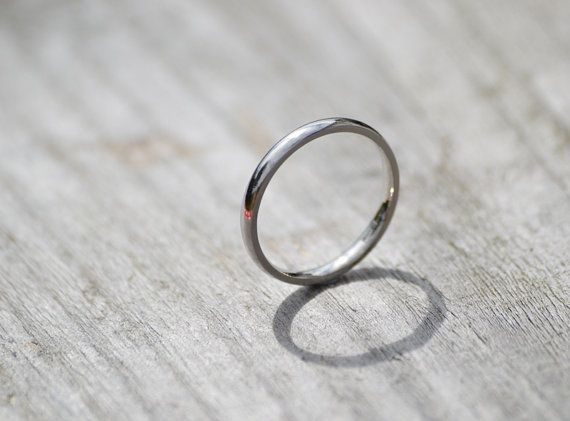 Platinum Wedding Ring 2mm Wide Simple Wedding Ring For Her Ring