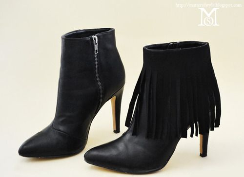 Diy No Sew Removable Suede Fringe For Boots Tutorial From