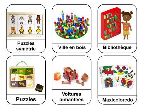 """Les étiquettes """"coins"""" et activités de la classe"""