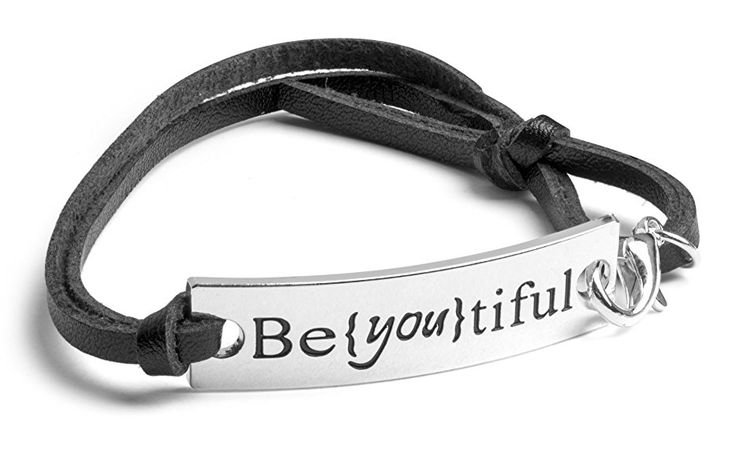 """BEYOUTIFUL"" Inspirational Leather Bracelet ..."