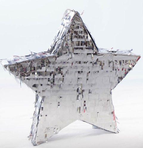 Silver star piñata