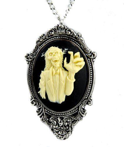 Zombie 3D Cameo Necklace Walking Dead Pendant Jewelry