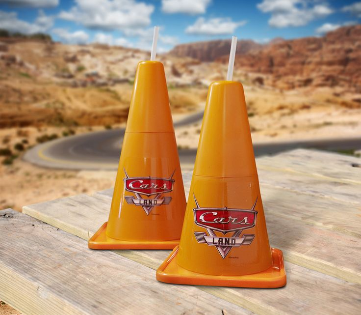 Cozy Cone Souvenir Cups at Disney California Adventure Park - LOVE these, we got 4 and can be re-used with actual toy cars at home!