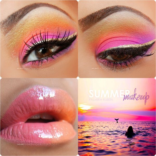 Pink eye shadow can look like an eye infection or irritation on Caucasian women. Women of color are the only ones who are able to pull it off and a look beautiful doing it! #inMYopinion