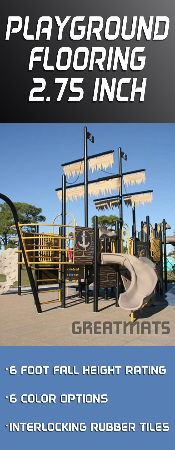 Best 25 playground flooring ideas on pinterest backyard great playground flooring option with a 6 foot critical fall height rating and multiple color options dailygadgetfo Images