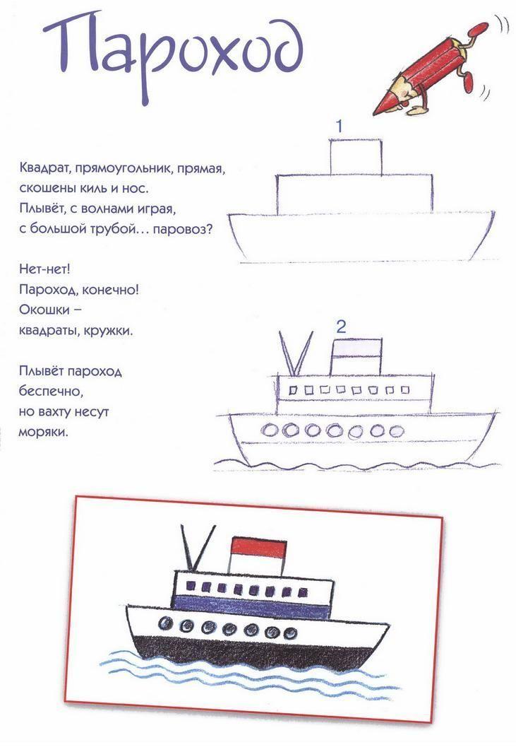 Tekenles voor kinderen. Hoe teken je een boot stap voor stap. | groep 4 groep 5 groep 6 | How to draw a boat step by step | primary school |