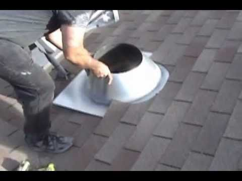 ▶ How to Install a Chimney Pipe Roof Flashing - YouTube