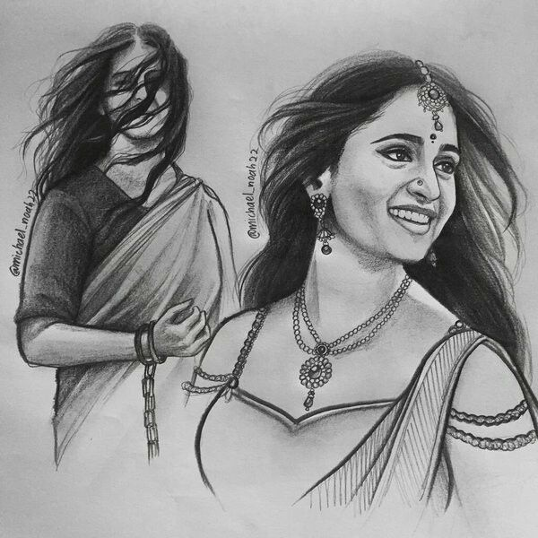 Just Perfect Indeed..The Stunning ANUSHKA SHETTY Is Brought Alive Marvellously On The Canvas!!