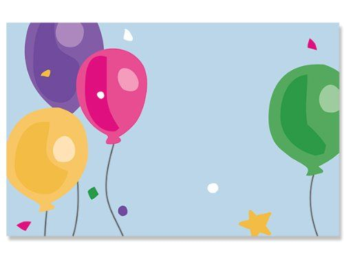 50 pack Birthday BalloonsNo Sentiment Enclosure Cards (20 unit, 50 pack per unit.) * Check out the image by visiting the link.