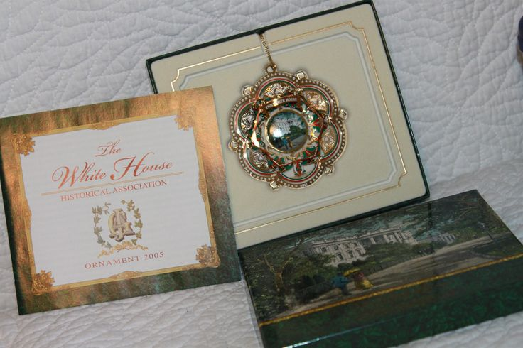 Excited to share the latest addition to my #etsy shop: A3 The White House Historical Association Christmas Ornament 2005 NIB President James A Garfield Gold Plated Brass Ceramic Stone http://etsy.me/2neogDq #vintage #collectibles #thewhitehouse #historical #associationxmas #chris