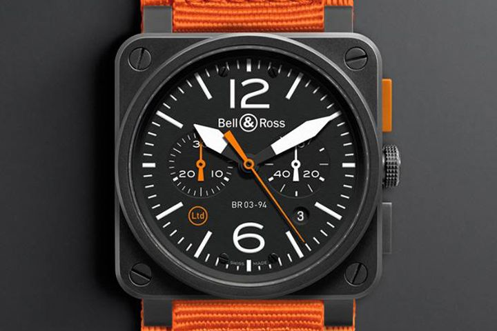 Bell & Ross BR 03-94 CARBON ORANGE watch