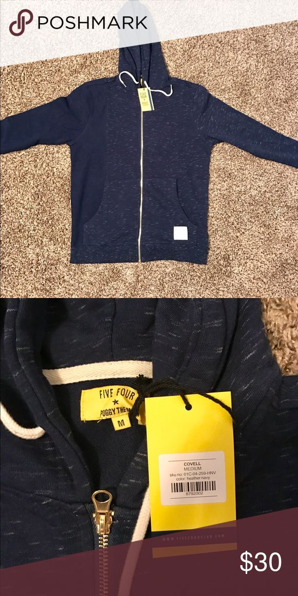 Five Four - Heather navy zip up hoodie Brand new, never been worn, still has the tags on it! Five Four Sweaters Zip Up