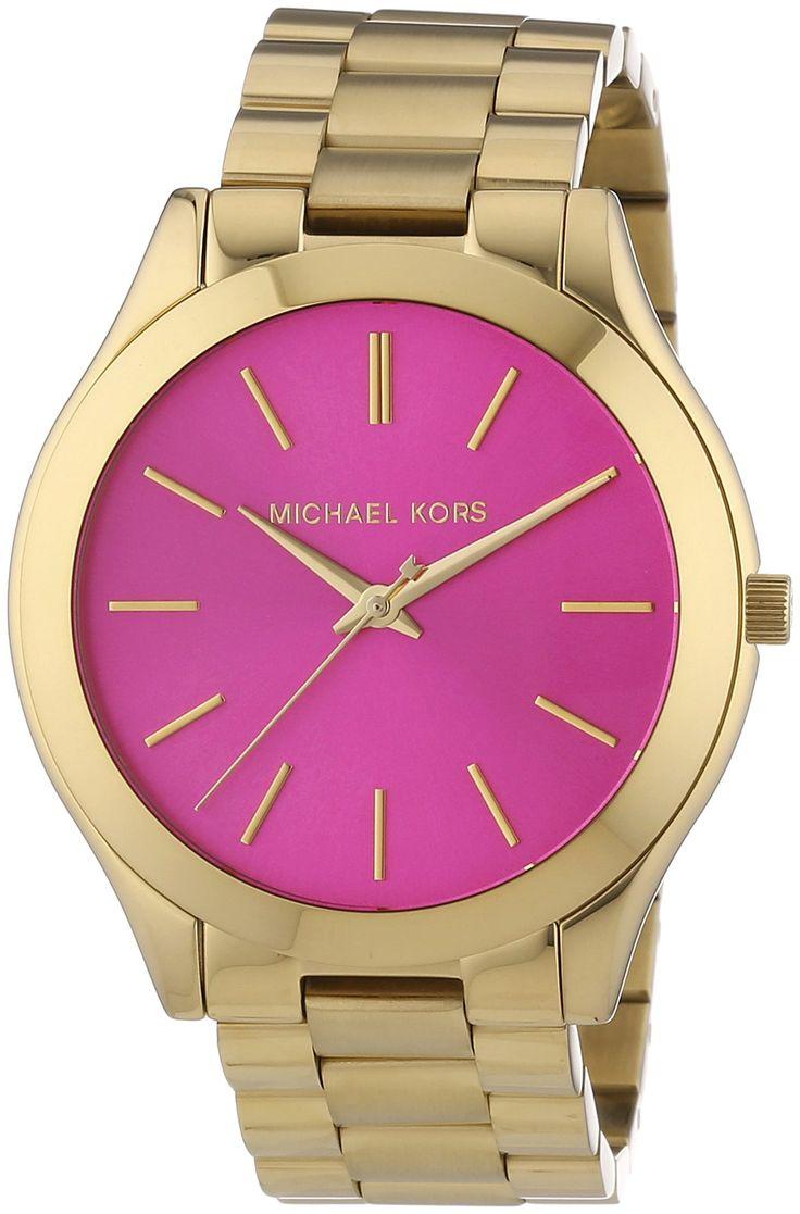 Michael Kors MK3264 - Reloj de cuarzo para mujer, correa de acero inoxidable color dorado: Amazon.es: Relojes