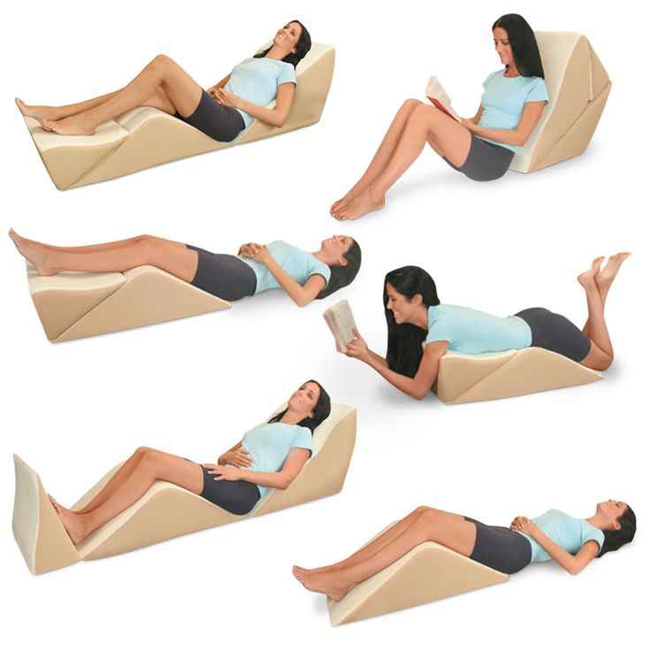 Yes! This looks perfect to relieve the pain in my left hip/bottom region! Not to mention my lower back... I have a knee rest, but it's the attached back section that makes it. :)  The Eight Position Bed Lounger - Hammacher Schlemmer
