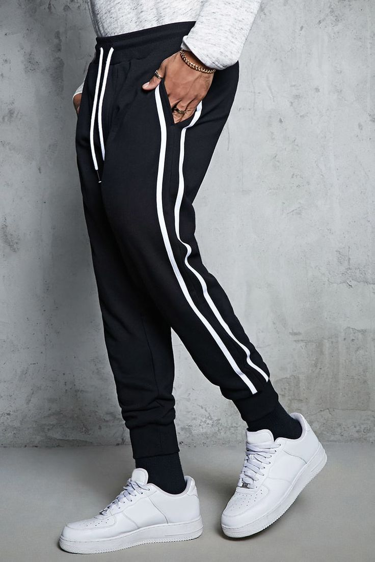 Product Name:Striped French Terry Joggers, Category:CLEARANCE_ZERO, Price:17.9