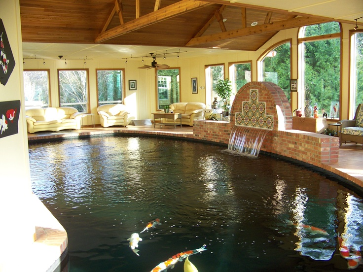 17 best images about indoor koi pond on pinterest for Koi pool water gardens thornton
