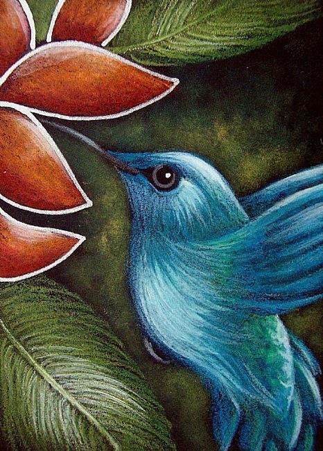 art blue hummingbird amp flower by artist cyra r cancel