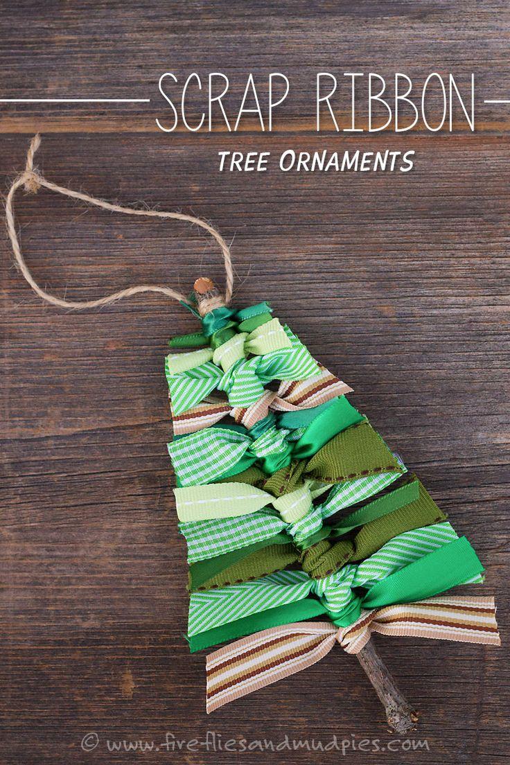 scrap ribbon tree ornament