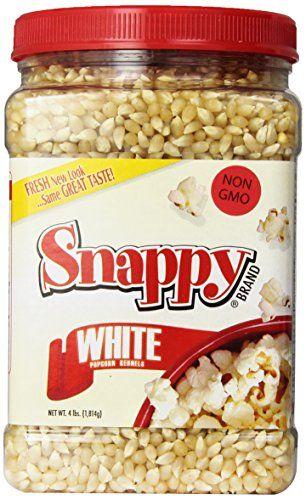 #bestprice One 4 pound jar of fresh #Snappy Popcorn. #White Kernels.
