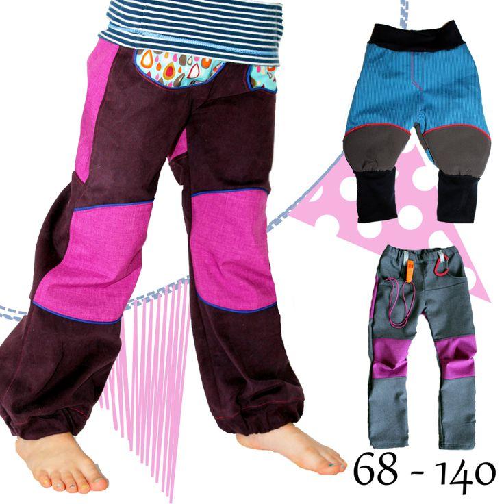 "eBook - ""Allwetterhose"" AnniNanni - Jeans, Softshellhose, Outdoorhose, Pumphose, Knickerbocker, Schlaghose, Jogginghose, kurze & lange Hose - Schnittmuster"