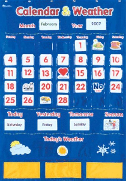 Children S Calendar Weather Chart : Learning resources calendar and weather pocket chart