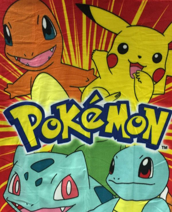 Pokemon Throw Blanket! Stay cozy with your favorite first gen Pokemon friends!